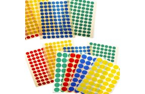 COLORED CIRCLE LABELS
